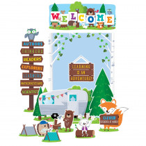 CTP7069 - Woodland Friends Welcome Bulletin Board Set in Classroom Theme