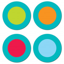 CTP7175 - Dots On Turquoise Dots Hot Spots Stickers in Stickers