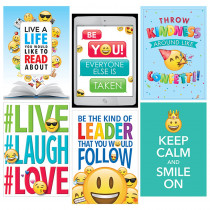 CTP8093 - Emoji Fun Inspire U 6 Pack Posters in Inspirational