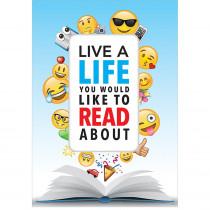 CTP8094 - Live A Life Read Inspire U Poster Emoji Fun in Inspirational