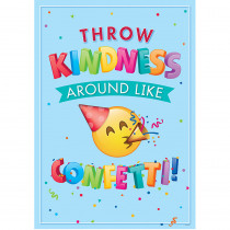 CTP8096 - Throw Kindness Inspire U Poster Emoji Fun in Inspirational