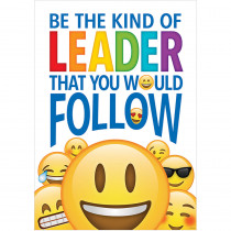 CTP8098 - Be The Kind Leader Inspire U Poster Emoji Fun in Inspirational
