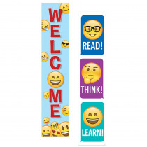 CTP8152 - Emoji Fun 2 Sided Banner in General