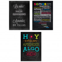 CTP8171 - 3Pk Spanish Inspire U Posters Chalk It Up in Charts