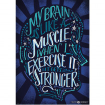CTP8178 - My Brain Is Like A Muscle Poster Inspire U in Inspirational