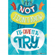 CTP8179 - Not I Don�T Know Inspire U Poster in Inspirational