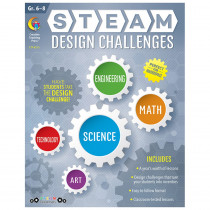 CTP8213 - Steam Design Challenges Grades 6-8 in Activity Books & Kits