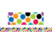 CTP8342 - Bold Bright Colorful Spots Border in General