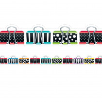 CTP8348 - Bold Bright Binder Clips Border in General