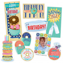 CTP8442 - Midcentury Mod Happy Birthday Bulletin Board Set in Classroom Theme
