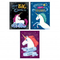 CTP8518 - Unicorns Inspire U Poster 3-Pack in Motivational