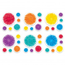 CTP8525 - Pom-Poms 6 Inch Designer Cut-Outs in Accents