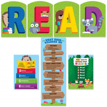 CTP8536 - Woodland Friend Read Bulletin Board in Classroom Theme