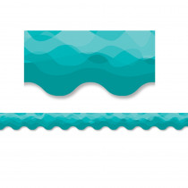 CTP8559 - Waves Of Teal Border in Border/trimmer