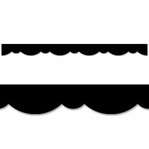CTP8563 - Black Stylish Scallops Border in Border/trimmer