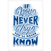 CTP8585 - If You Never Try Inspire U Poster in Inspirational