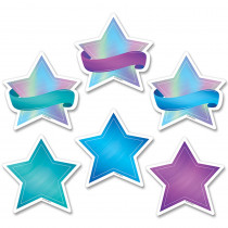 CTP8657 - Shimmering Stars Cut Outs 3 In Mystical Magical in Accents