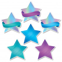 CTP8661 - Shimmering Stars Cut Outs 6 In Mystical Magical in Accents