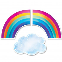 CTP8662 - Rainbows And Clouds Cut Outs 6 In in Accents