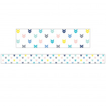 CTP8679 - Colorful Mini Chevrons Border Calm & Cool in Border/trimmer