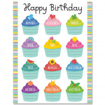 CTP8691 - Color Pop Birthday Chart in Classroom Theme