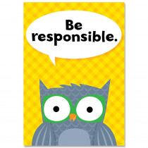 CTP8693 - Be Responsible Woodland Friends Inspire U Poster in Inspirational