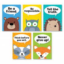 CTP8697 - Woodland Friends Charac Traits  5Pk Inspire U Posters in Inspirational