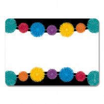 CTP8717 - Pom-Poms Name Tag Labels Adhesive in Name Tags