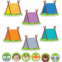 CTP8898 - Woodland Friends 6In & 3In Cut-Outs Combo Pack in Accents