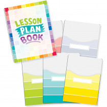 CTP8910 - Painted Palette Lesson Plan Book & 9X12 Library Pckt Organizers Combo in Plan & Record Books