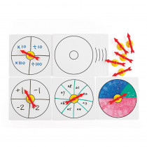 CTU18001 - 10 Suction Spinners W Whiteboards in General