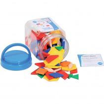CTU22026 - Pattern Blocks Mini Jar in Blocks & Construction Play