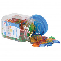 CTU22108 - Transparent Pattern Blocks Mini Jar in Blocks & Construction Play