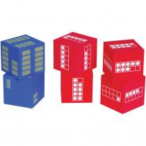 CTU7297 - Ten Frame 6 Foam Dice 4 Red  2 Blue in General