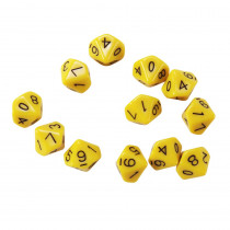 CTU7340 - 10 Sided Polyhedra Dice Set Of 12 in Dice