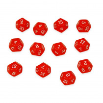 CTU7341 - 12 Sided Polyhedra Dice Set Of 12 in Dice