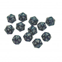 CTU7342 - 20 Sided Polyhedra Dice Set Of 12 in Dice