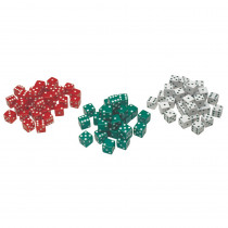 CTU7366 - Red Green & White Dot Dice 36/Pk in Dice