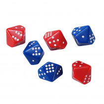 CTU7399 - Subitizing Dice 6 Set 3 Red 3 Blue in Numeration