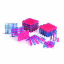 CTU7401 - Transparent Interlocking Base Ten Starter Set in Base Ten