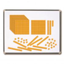CTU7423 - Magnetic Foam Base Ten Blocks in Base Ten