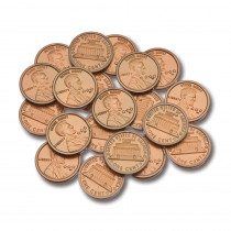 CTU7521 - Plastic Coins 100 Pennies in Money
