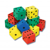 CTU7631 - Foam Dot Dice Set Of 12 in Dice