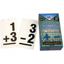 CTU8662 - Double Value Vertical Flash Cards Addition Subtraction in Flash Cards
