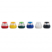 Ready2Learn No Spill No Tip Paint Pots, Set of 6 - CTUCE10002 | Learning Advantage | Paint Accessories