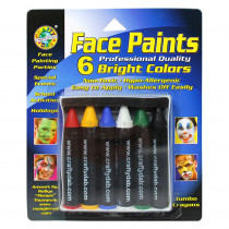 CV-80032 - Crafty Dab Jumbo Crayon Face 6 Pk Bright Paints in Paint