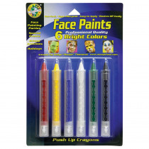 CV-80042 - Crafty Dab Push-Up Face Paints 6Pk Bright in Paint