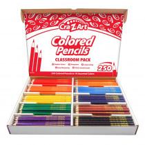 Colored Pencil Classroom Pack, 10 Colors, Box of 250 - CZA740011 | Larose Industries Llc | Colored Pencils