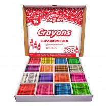 Crayon Classroom Pack, 16 Color, Box of 800 - CZA740041 | Larose Industries Llc | Crayons