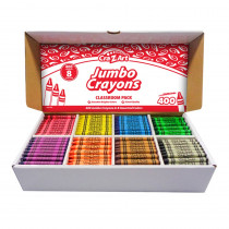 Jumbo Crayon Classroom Pack, 8 Color, Box of 400 - CZA740051 | Larose Industries Llc | Crayons